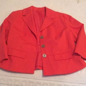 Coral blazer- size and brand unknown